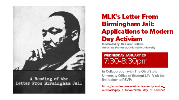 MLK Letter from Birmingham Jail Jan20